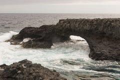 Costa de la isla del EL Hierro Fotografía de archivo