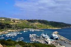 Costa de la isla de Gozo malta foto de archivo libre de regalías