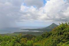 Costa de la isla tropical Riviere Noire, Mauricio Imágenes de archivo libres de regalías