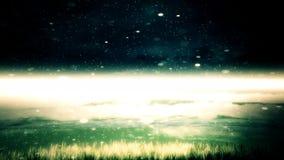 Costa de la noche ilustración del vector