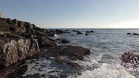 Costa de la onda y de la piedra almacen de video