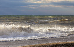 Costa de la playa de Crimea occidental Imagenes de archivo