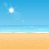 Costa de la playa del verano ilustración del vector