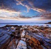 Costa de la punta de Pemaquid Fotografía de archivo