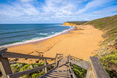 Costa de la resaca en Torquay, Victoria Australia imagen de archivo libre de regalías