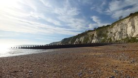 Costa costa de la tiza de Sussex en un día del otoño fotos de archivo libres de regalías