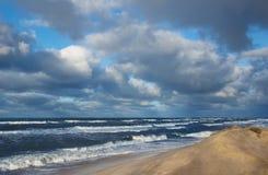 Costa de la tormenta foto de archivo libre de regalías