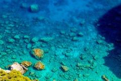 Costa costa de la turquesa de Zakynthos imagen de archivo