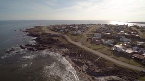 Costa de la visión aérea, Punta Colorada, Maldonado, Uruguay metrajes