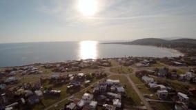 Costa de la visión aérea, Punta Colorada, Maldonado, Uruguay almacen de metraje de vídeo