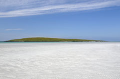 Costa de Lingay & ilha de Lingeigh Fotos de Stock Royalty Free