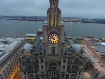 Costa de Liverpools foto de archivo libre de regalías