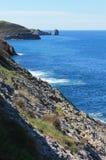 Costa de Llanes, as Astúrias, Espanha Fotografia de Stock Royalty Free