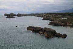 Costa de Llanes, Asturies, Espagne Photos stock