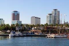 Costa de Long Beach en la zona metropolitana de Los Ángeles Foto de archivo libre de regalías