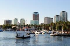 Costa de Long Beach en la zona metropolitana de Los Ángeles Fotos de archivo