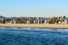 Costa de Los Angeles vista do cais da pesca de Venice Beach fotografia de stock