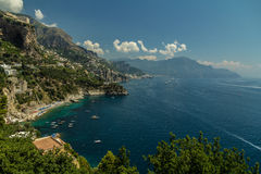 Costa de Magnificient Amalfi Imagen de archivo