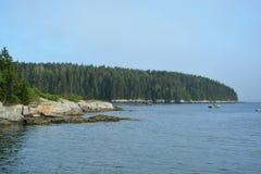 Costa de Maine foto de archivo
