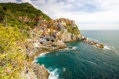 Costa de Manarola en Liguria Imágenes de archivo libres de regalías