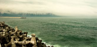 Costa de mar Imagen de archivo libre de regalías