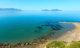 Costa de mar Albânia da manhã imagens de stock royalty free