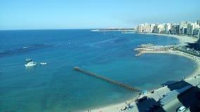 Costa de mar Alexandria foto de stock