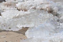 Costa de mar Báltico congelada, helada 2 Imagen de archivo