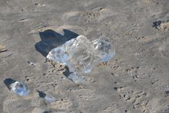 Costa de mar Báltico congelada, helada 10 Imagen de archivo