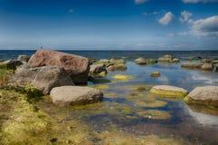 Costa de mar Báltico en vacaciones de verano Fotos de archivo libres de regalías