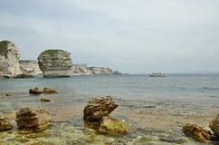 Costa de mar cerca de Bonifacio Fotos de archivo libres de regalías