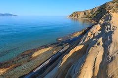 Costa de mar de la mañana, Albania Imagen de archivo