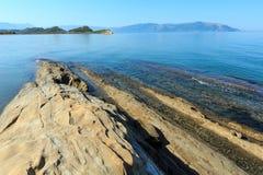 Costa de mar de la mañana Albania Fotografía de archivo libre de regalías