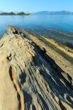 Costa de mar de la mañana Albania Imagen de archivo