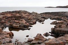 Costa de mar de pedra Imagem de Stock
