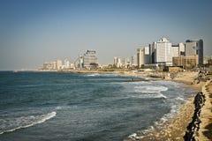Costa de mar de Tel Aviv Imagen de archivo libre de regalías