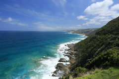 Costa de mar del gran camino del océano Fotografía de archivo