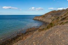 Costa de Mar del Norte en Kettleness, Inglaterra, Reino Unido fotografía de archivo libre de regalías
