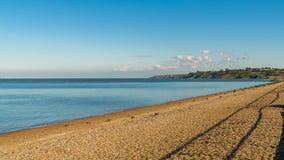 Costa de Mar do Norte em Kent, Inglaterra, Reino Unido fotos de stock