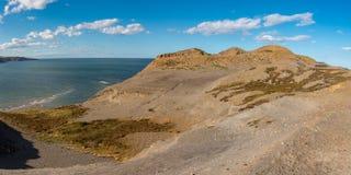 Costa de Mar do Norte em Kettleness, Inglaterra, Reino Unido imagem de stock