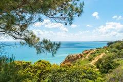 Costa de mar e praias de Lagos, o Algarve, Portugal Fotografia de Stock