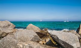 Costa de mar em Badalona Fotografia de Stock