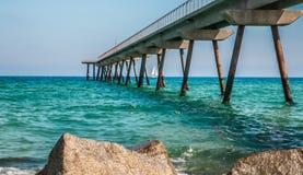 Costa de mar em Badalona Imagem de Stock Royalty Free