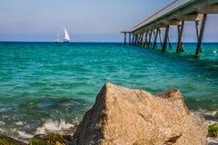 Costa de mar em Badalona Imagem de Stock