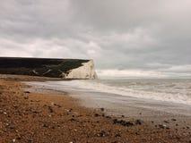 Costa de mar em Inglaterra, parque do condado de sete irmãs Fotografia de Stock
