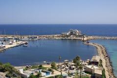 Costa de mar em Monastir, Tunísia em África Fotografia de Stock