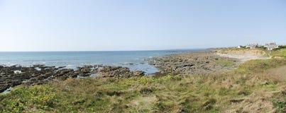Costa de mar en Bretaña fotos de archivo libres de regalías