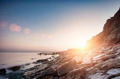 Costa de mar en Chabanka Odesa Ucrania Fotografía de archivo libre de regalías