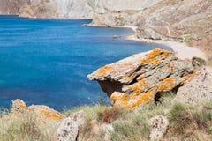 Costa de mar en Crimea Fotos de archivo libres de regalías