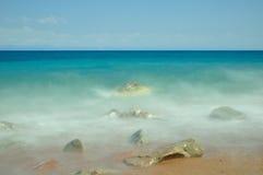 Costa de mar longa da exposição Fotos de Stock